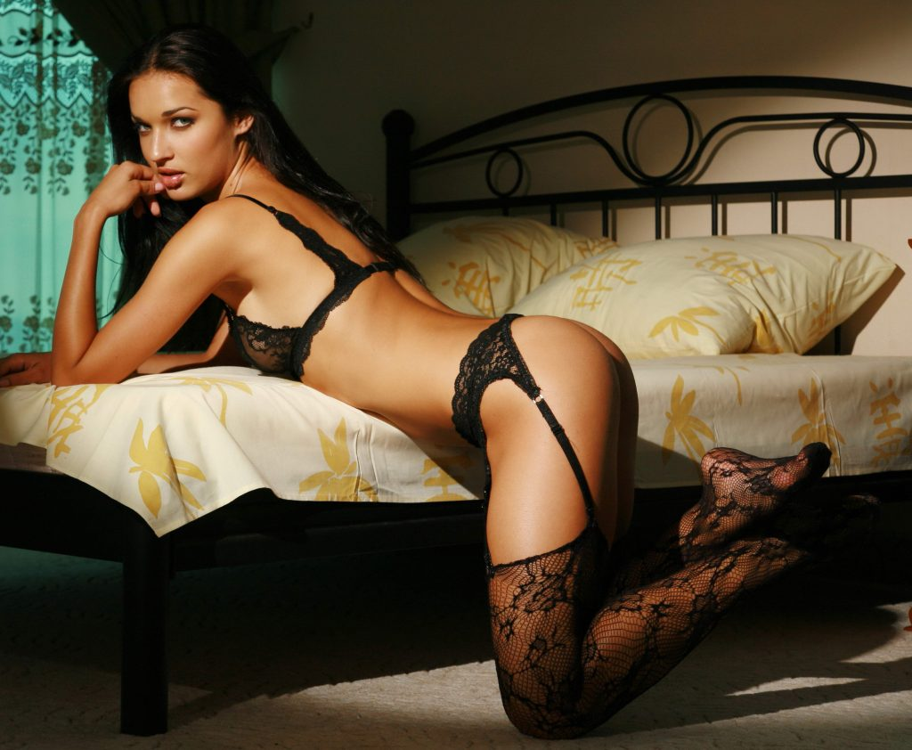 London Escorts Black Lingerie And Tighs