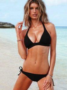 blonde bikini girl